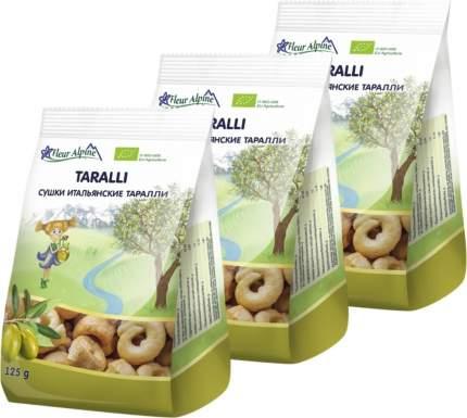 Сушки итальянские ТАРАЛЛИ Fleur Alpine на оливковом масле, 3 шт. по 125 г