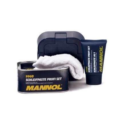 Набор средств для ручной и мех-й полировки MANNOL Schleifpaste Profi Set 2242, 400 мл