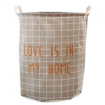 Корзина для белья Love Is In My Home (350*450мм) бежевая