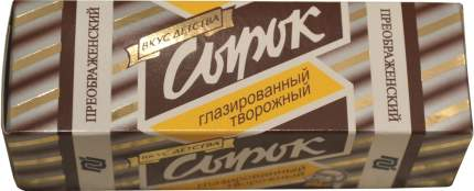 Сырок творожный глазированный Преображенский какао 23% СЗМЖ 45 г
