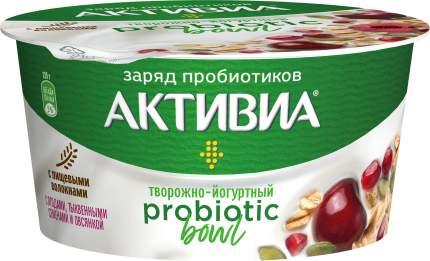 Продукт творожно-йогуртный Активиа Probiotic Bowl вишня-овес-семена тыквы-гранат 3,5% 135г