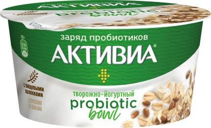 Продукт творожно-йогуртный Активиа Probiotic Bowl с отрубями и злаками 3,5% бзмж 135 г