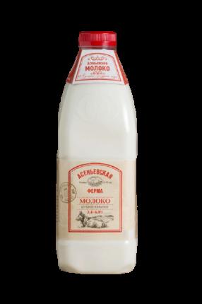Молоко 3,4 - 6% пастеризованное 1,4 л Асеньевская Ферма