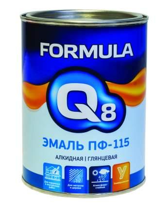 Эмаль ПФ-115 алкидная Formula Q8, глянцевая, 0,9 кг, белая