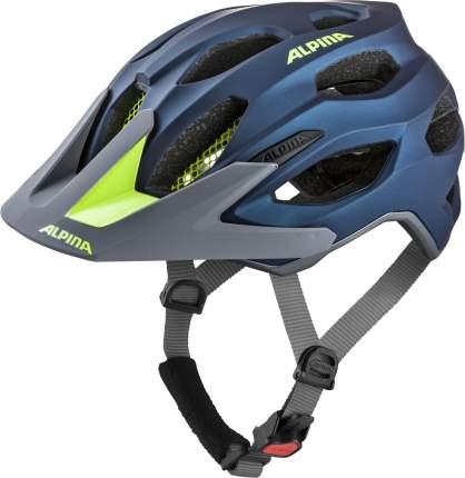 Велосипедный шлем Alpina Carapax 2.0, dark blue/neon matt, M