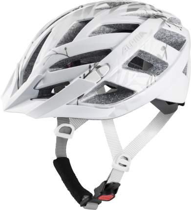 Велосипедный шлем Alpina Panoma 2.0, white/silver leafs gloss, S