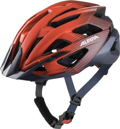 Велосипедный шлем Alpina Valparola, indigo/cherry drop matt, L