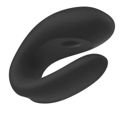 Вибратор для пар Double Joy с управлением через приложение черный
