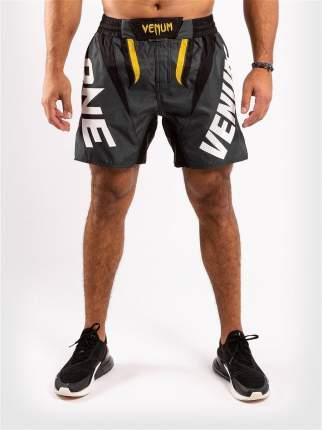 Шорты ММА Venum ONE FC Impact Grey/Yellow, XL