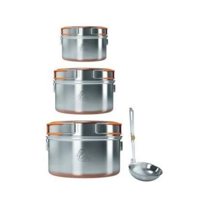 Набор Посуды Nz 2021 Ss-027 (2 Кастрюли, Сковорода, Чайник) (Б/Р)