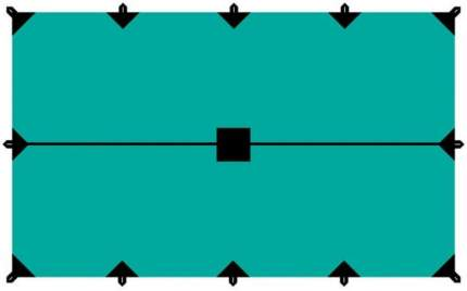 Тент Tramp 2021 Тент 4*6М Green (Б/Р)