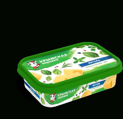 Плавленый сыр Крымская Коровка янтарь бзмж 50% 180 г