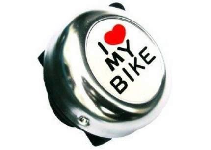 """Звонок """"I LOVE MY BIKE"""" хром., сталь/пластик"""