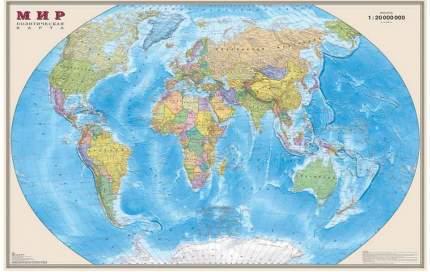 Интерактивная карта Мира политическая 156*101 см 1:20М ОСН1234846