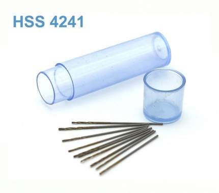 JAS Мини-сверло HSS 4241 титановое покрытие d 0,6 мм 10 шт.