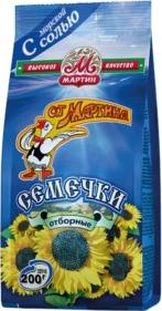 Семечки подсолнечные От Мартина Молодежные Отборные жареные соленые 200 г