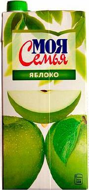 Нектар Моя Семья зеленое яблоко