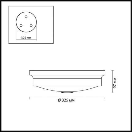 Настенно-потолочный светильник Odeon Light Marsei 4824/3C