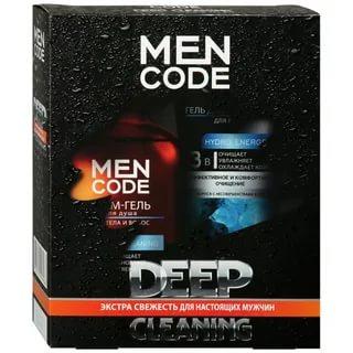 Набор Aura мужской косметический, MEN CODE  Гель для душа 300мл + Гель для умывания 150 мл
