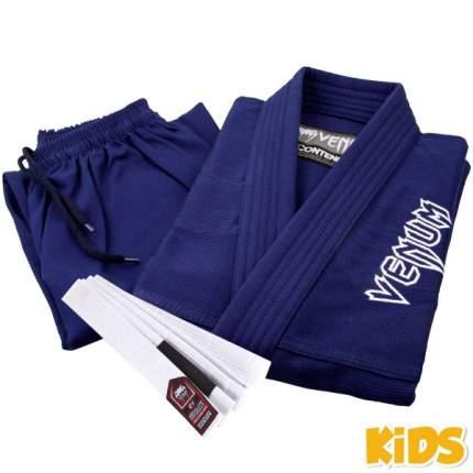Кимоно для бжж Venum Contender Kids Navy Blue с поясом , C1
