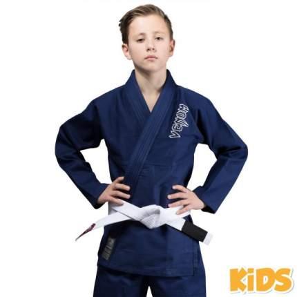 Кимоно для бжж Venum Contender Kids Navy Blue с поясом , C3
