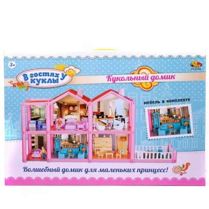 ABtoys Дом кукольный - В гостях у куклы, с мебелью и человечками, 136 деталей