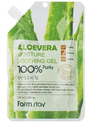 Гель для лица и тела FarmStay Aloe Vera Moisture Soothing Gel 100мл