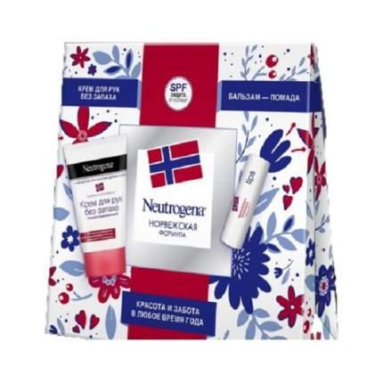 Подарочный набор Neutrogena Крем для рук без запаха 50мл + Бальзам-помада 4.8г