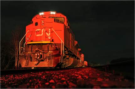 """Картина на холсте с подрамником ХитАрт """"Поезд"""" 100x66 см"""