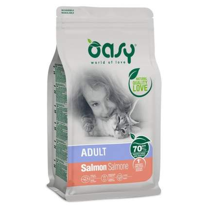 Сухой корм для кошек Oasy Dry Cat Adult Salmon, лосось, 1.5кг