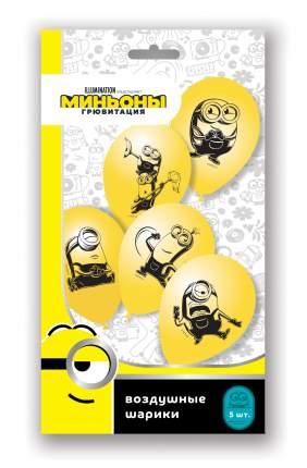 Воздушные шарики Миньоны 2, 30 см 5 штук количество товаров в комплекте: 5