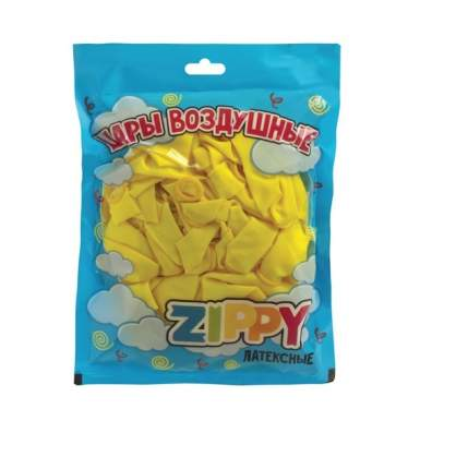 Шары воздушные ZIPPY, 25 см, 50 штук, неоновые желтые