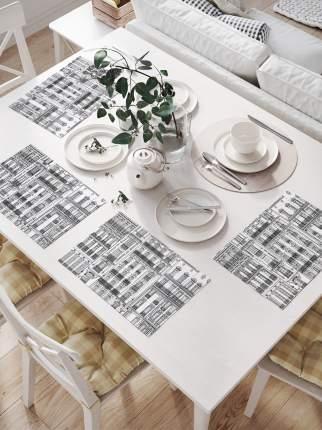 JoyArty Комплект салфеток для сервировки стола «Центральные дома» (32х46 см, 4 шт.)