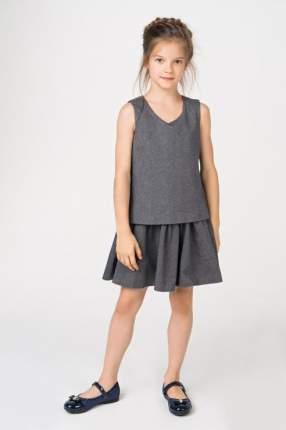 Платье для девочки Gulliver, цв.серый, р-р 164