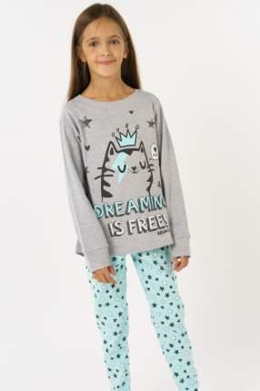 Пижама для девочки Brums, цв.серый, р-р 98