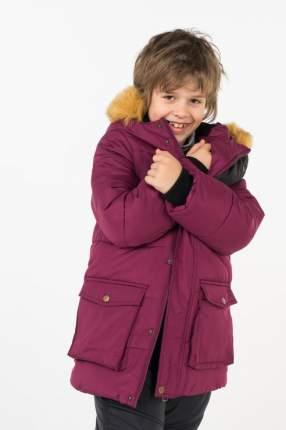 Пальто зимнее для мальчика Button Blue, цв.красный, р-р 140