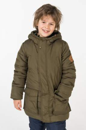 Пальто зимнее для мальчика Button Blue, цв.хаки, р-р 152