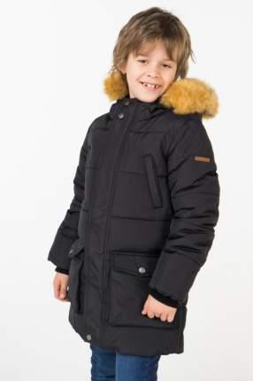 Пальто зимнее для мальчика Button Blue, цв.чeрный, р-р 98