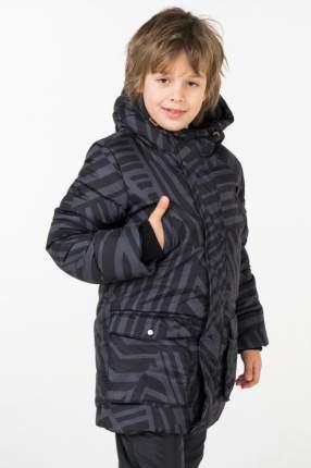 Пальто зимнее для мальчика Button Blue, цв.чeрный, р-р 122