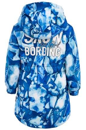 Пальто для девочки Button Blue, цв.синий, р-р 152