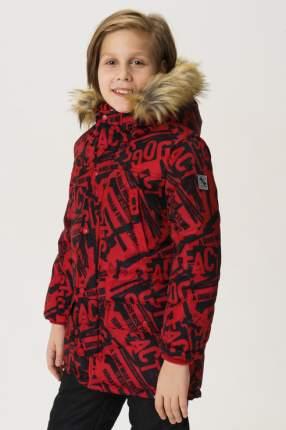 Пальто для мальчика Button Blue, цв.красный, р-р 122