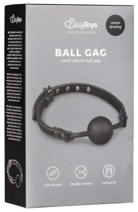 Черный кляп-шар Easytoys Ball Gag With Silicone Ball EDC Wholesale