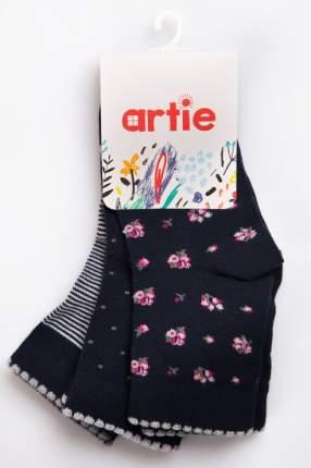 Носки детские 3 пары Artie, цв. синий р.18-22