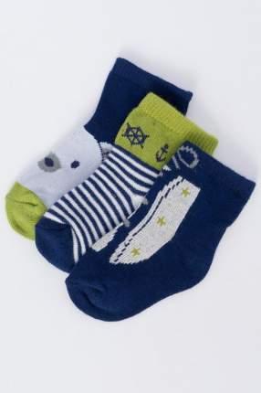 Носки детские 3 пары Mayoral, цв. зеленый; синий р.16