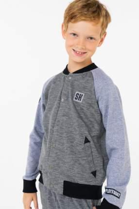 Накидка-бомбер для мальчика PlayToday, цв.серый, р-р 104