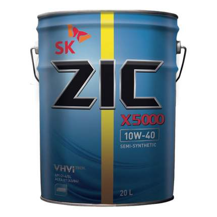 Моторное масло Zic X5000 10W-40 20л