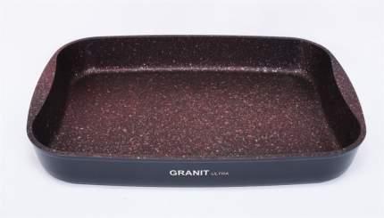 Противень а/пр литой 33,5х22х5,5см Granit ultra red ТМ KUKMARA