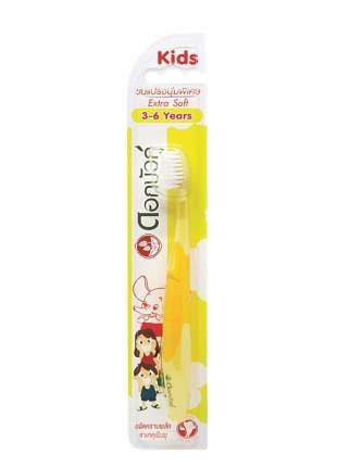 TWIN LOTUS Зубная щетка детская экстра мягкая желтая 3-6 лет