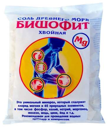 Соль для ванн AROMA'Saules Бишофит сухой, хвойный, 0,5 кг