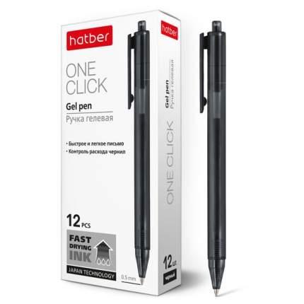 """Ручка гелевая """"Hatber. OneClick"""", черная, 0,5 мм"""